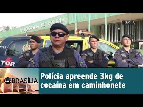 Polícia apreende 3kg de cocaína