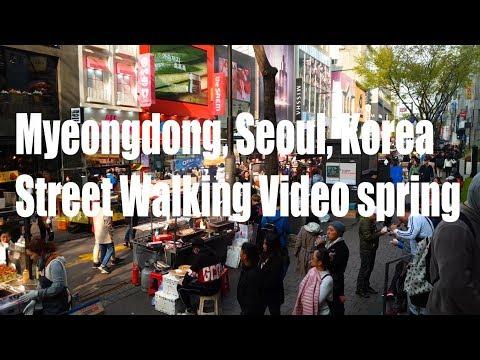 [ 4K Walk ] Myeongdong |명동걷기| Seoul, Korea At Spring | チュング・ミョンドン | 韓国ソウル明洞
