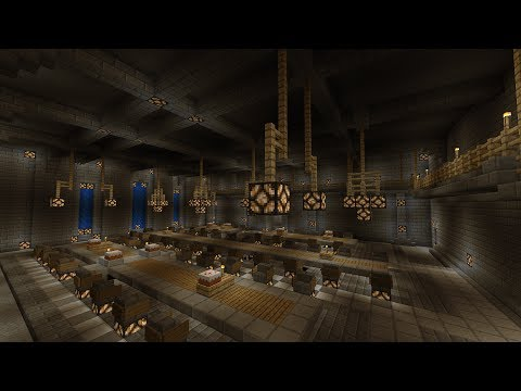 minecraft medieval dining hall castle main keep part