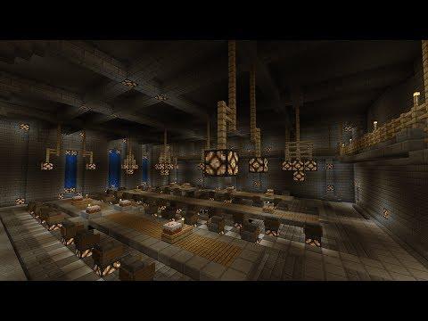 Minecraft Medieval Dining Hall castle main keep part