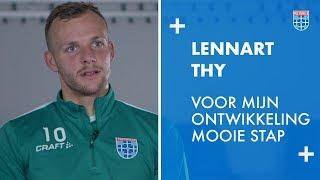 Lennart Thy: 'Voor mijn ontwikkeling een mooie stap.'