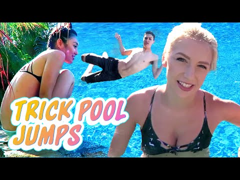 TRICK POOL JUMPS (Squad Vlogs)