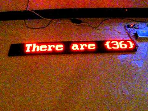 "LED message sign 48"" DIY Electronic kit amazing ! look!"