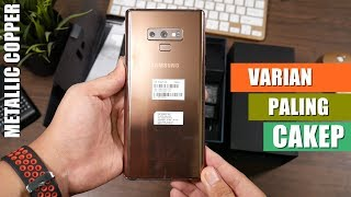 Unboxing Samsung Galaxy Note 9 Indonesia - WARNA METALLIC COPPER!!!