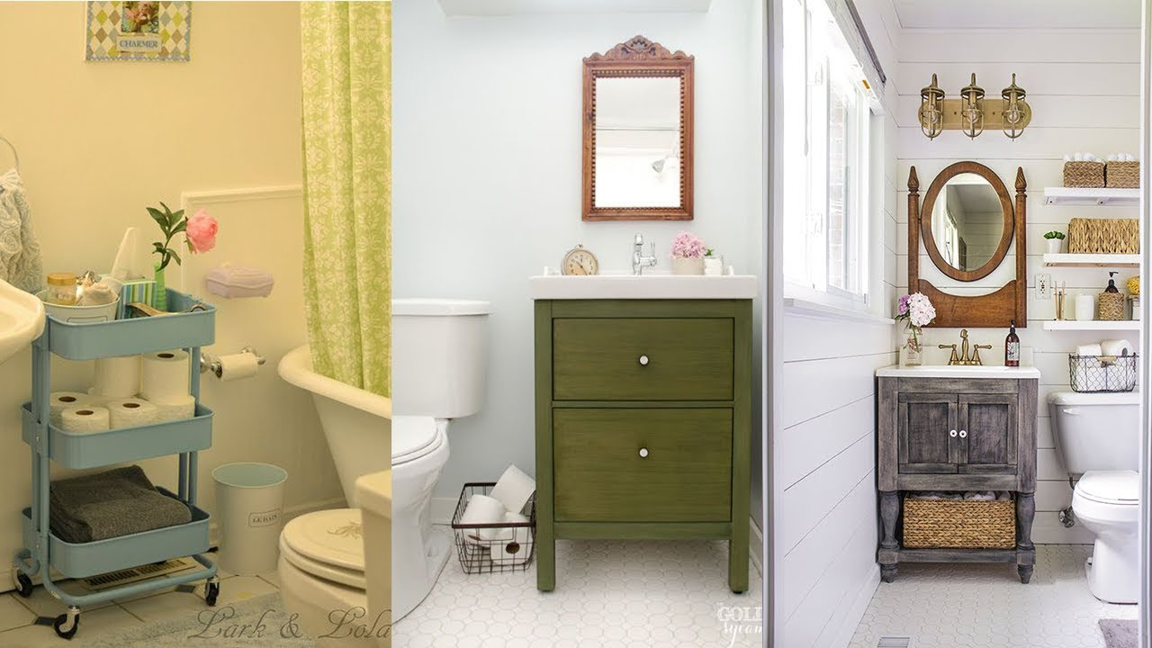 Ikea Small Bathroom Cheap Storage Hack Ideas Youtube