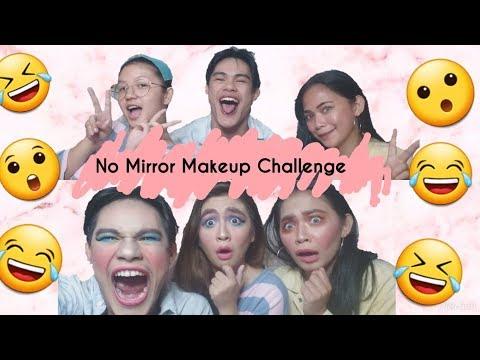 NO MIRROR MAKEUP CHALLENGE WITH A TWIST!!   It's Vida thumbnail