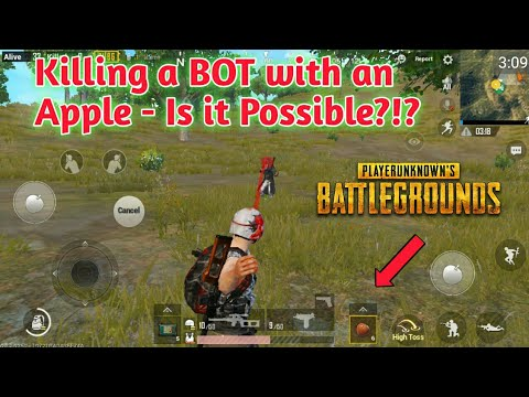 Killing a Bot with an Apple🍎😂!! - Is it Possible??🤔 How to get  Apples🍎 in PUBG Mobile