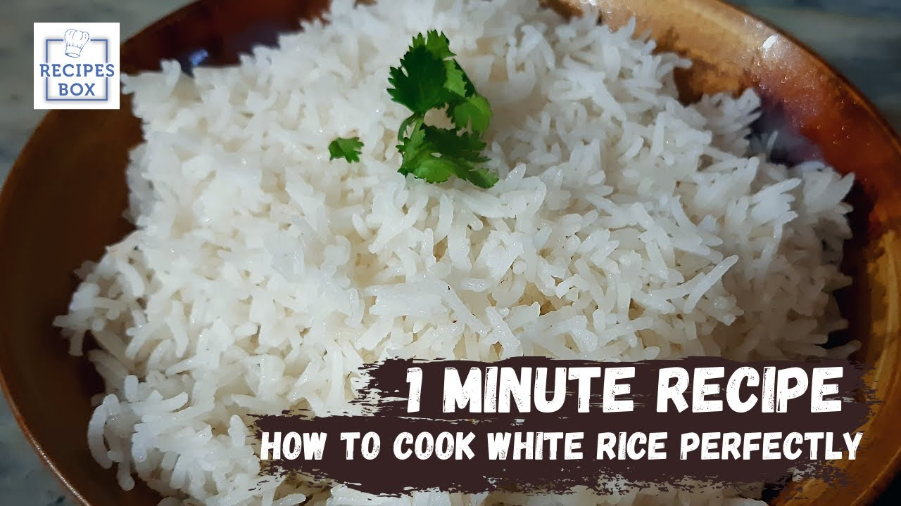 How To Cook White Rice Perfectly | 1 Minute Recipe | Rice for Biryani | Recipes Box