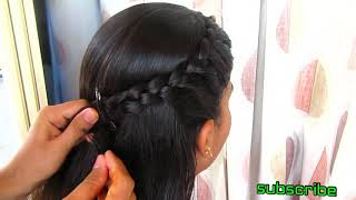 Simple side braid hairstyle