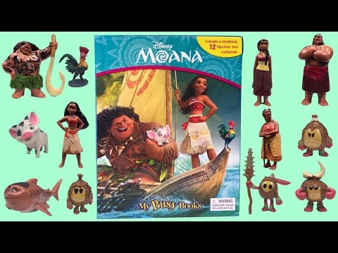 Moana ~ My Busy Story Books ~ Toy Figures from 2016 Disney Movie