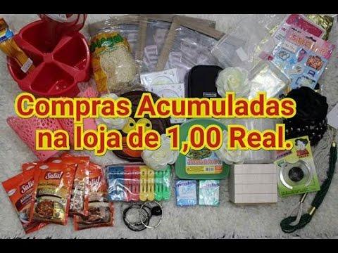 🛍Compras Acumuladas da Loja de 1,00 REAL, Ostentação da Economia.