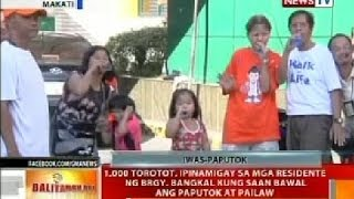 bt 1 000 torotot ipinamigay sa mga residente ng brgy bangkal makati