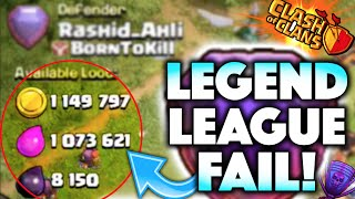 Clash of Clans - HUGE LEGEND LEAGUE FAIL! TOP PLAYER BASE ATTACKED! Top Player Gameplay + Upgrades!