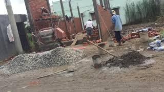 Công trình đang thi công tại khu dân cư tràng an