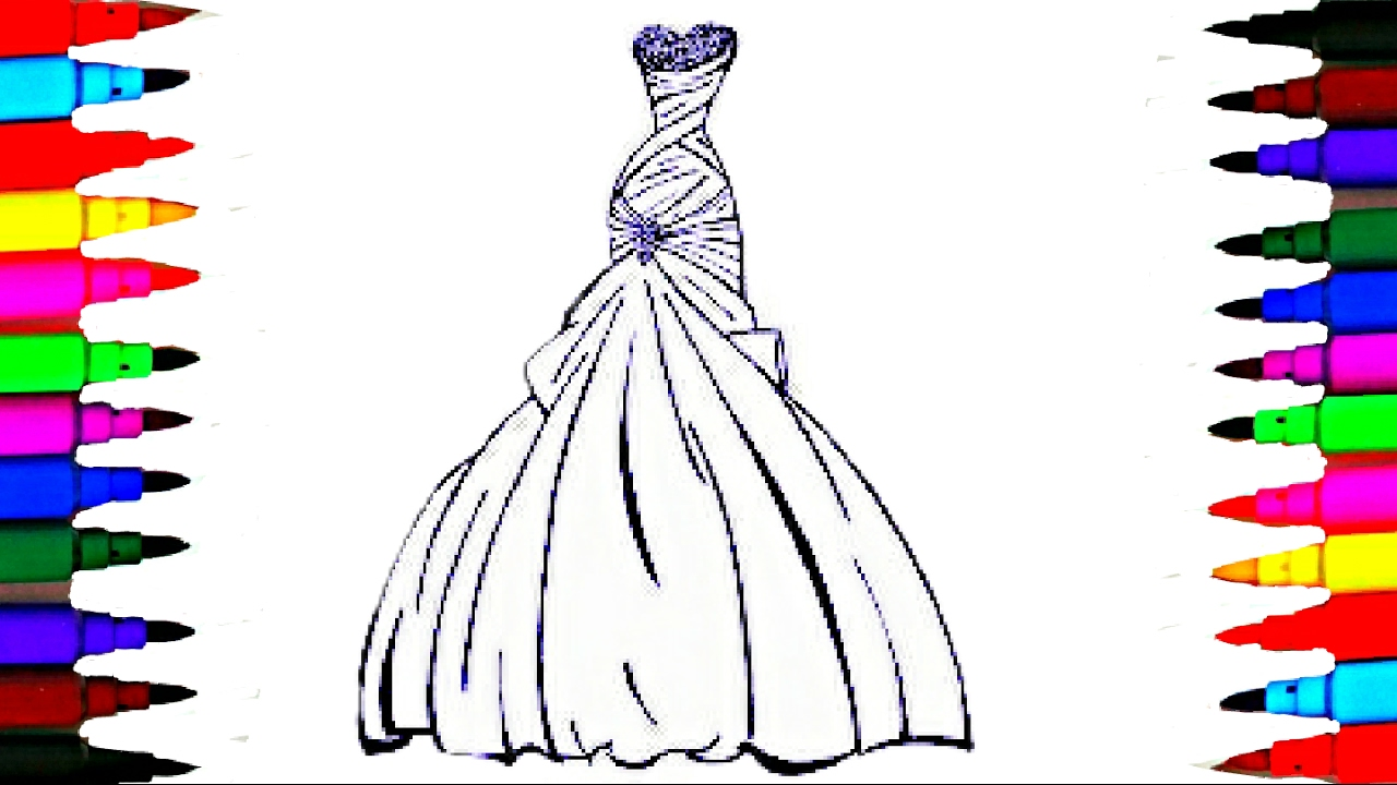Barbie Rainbow Coloring Pages : Barbie glamour dress best learning coloring book l pages