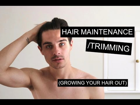 Maintaining Trimming Men S Hair While Growing It Out Men S Long