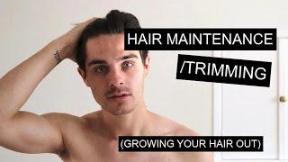 Maintaining/Trimming Men's Hair While Growing It Out | Men's Long Hair thumbnail