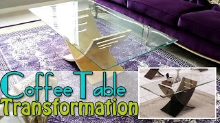 Diy - Watch As I Transform My Coffee Table - Gold Leaf
