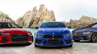 BMW M8 Competition против AUDI RS7 против Mercedes-AMG GT63S против BMW M5 - объективное сравнение!