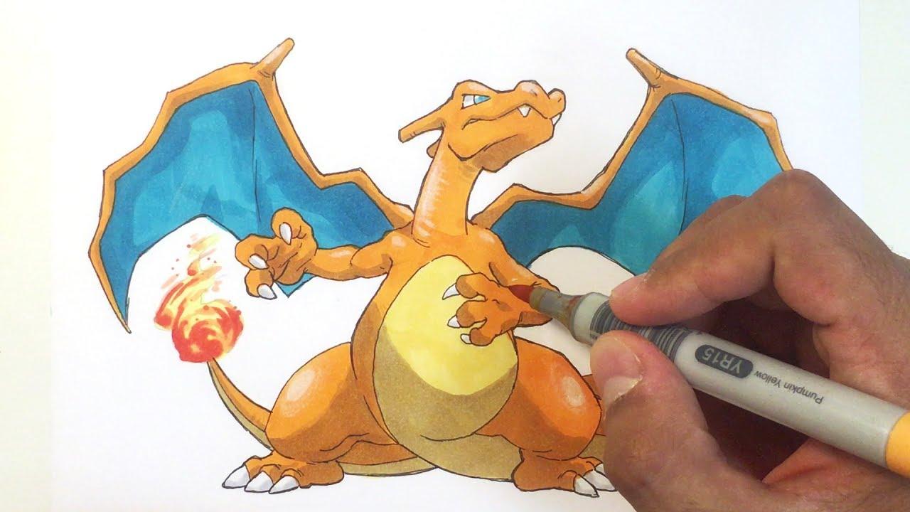 Pokémon Zeichnen 006 Glurak