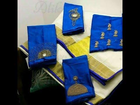 Latest Kerala  settusarees with Blouse designs onam special2017(ONAKODI)