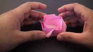 Origami Daily - 181: Rose Box (valentine's Day Basket) - Tcgames [hd]