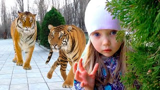 Merry Nastya and a story for children about missing animals