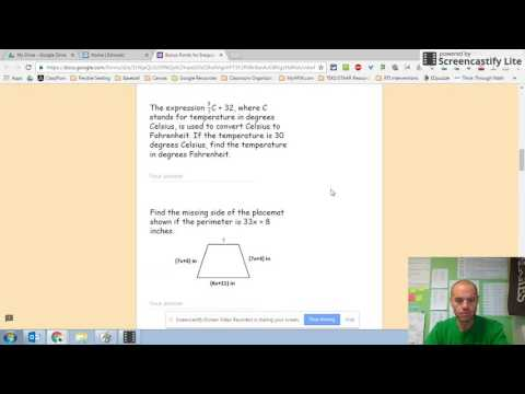 Bonus Points for Inequalities Quiz Tutorial