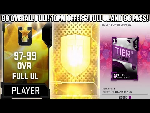 99 OVERALL PULL! 10PM SPECIAL OFFERS! FULL UL AND 96 OVERALL PASS OFFERS! | MADDEN 19 ULTIMATE TEAM