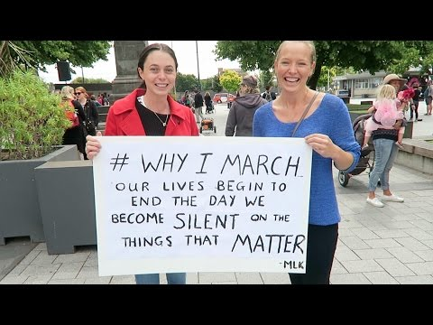 WOMEN'S MARCH IN NEW ZEALAND! // Christchurch
