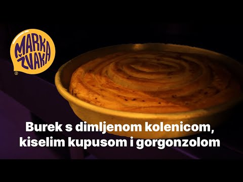 Burek s dimljenom kolenicom, kiselim kupusom i gorgonzolom