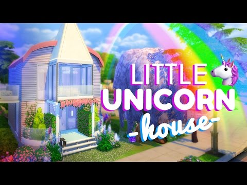 LITTLE UNICORN HOUSE!!!  [ The Sims 4 House Building ]