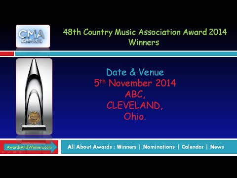 48th Country Music Association (CMA) Award 2014 - Winners