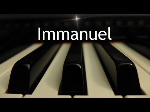 Immanuel - Christmas instrumental piano cover with lyrics