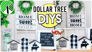 DOLLAR TREE DIYS | FARMHOUSE DECOR Using NEW Dollar Store FINDS | Sensational Finds