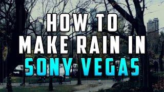 كيفية: جعل المطر في سوني فيغاس برو