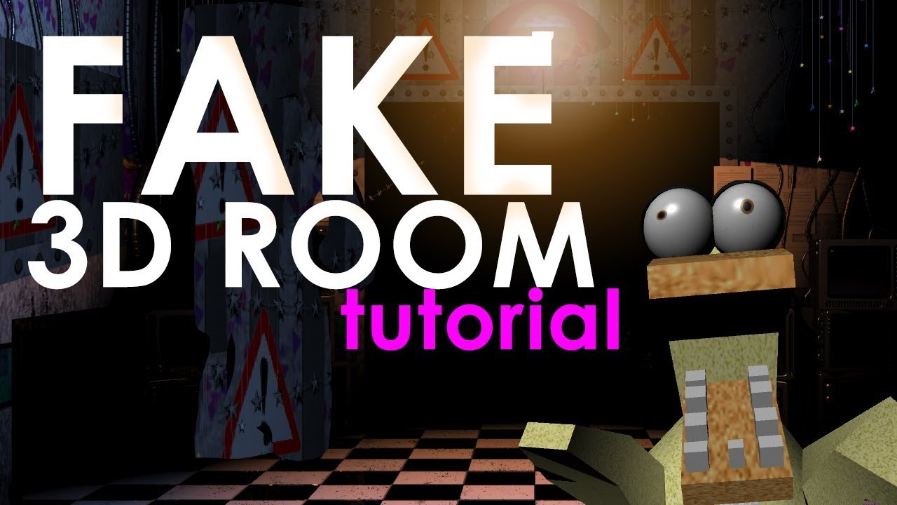 HOW TO MAKE A FNAF 3D ROOM - PART 1