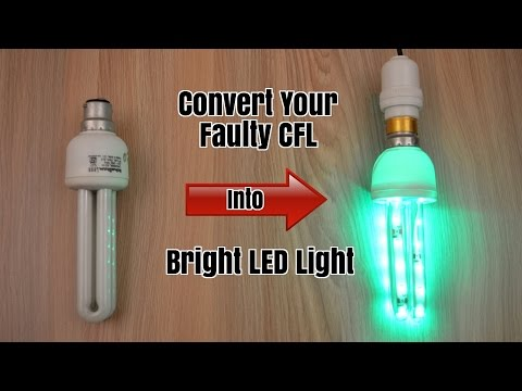 Thumbnail: Convert Your Faulty CFL Light into Bright LED Light - Homemade