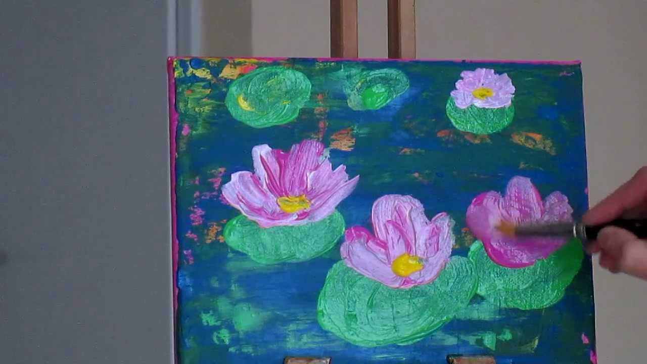 Tanja Bell How To Paint Abstract Painting Lily Pond Tutorial Lotus