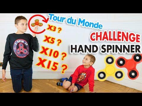 CHALLENGE HAND SPINNER FREESTYLE - Record de Tours du Monde  pour Néo !