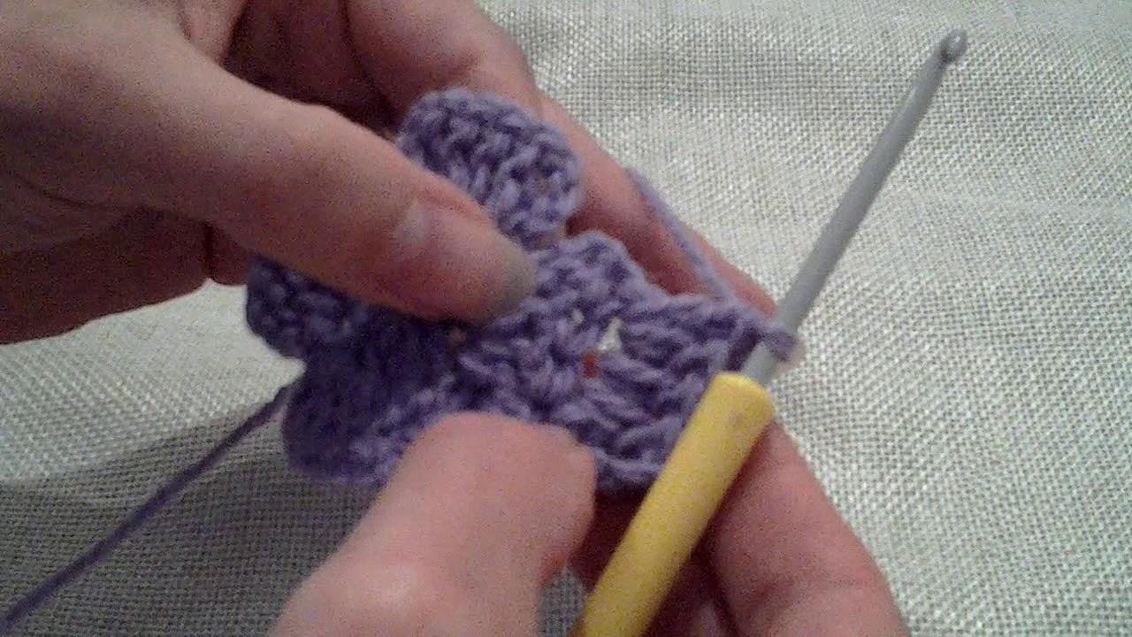 Tumbling Blocks Get Square Var01 Crochet Blanket Round 3