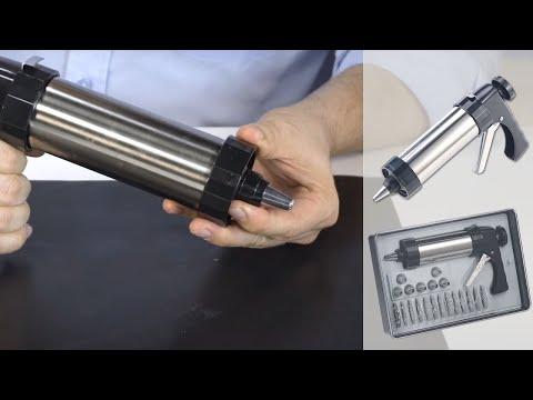 PISTOLET A PATISSERIE à DOUILLE - Formes De Gâteaux - [PEARLTV.FR]