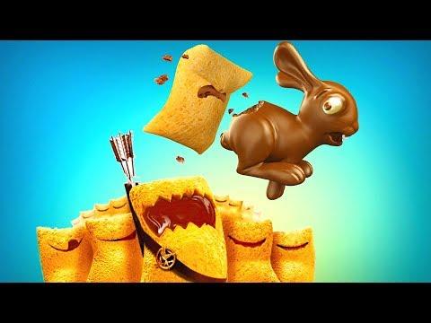 Смешные герои сухого завтрака и шоколадные сюрпризы