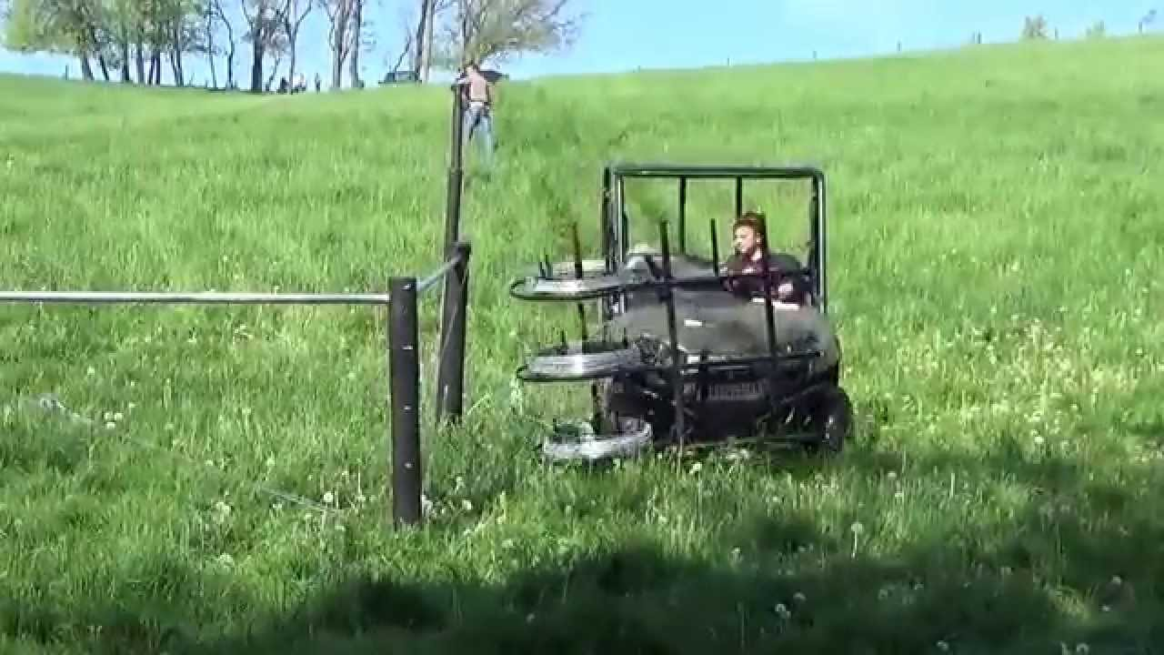 Putting Up Fence Using Mobile Wire Dispenser Youtube