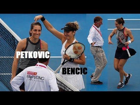 PETKOVIC vs BENCIC 🎾 European TENNIS players DANCING their way into the 2018 Australian Open!