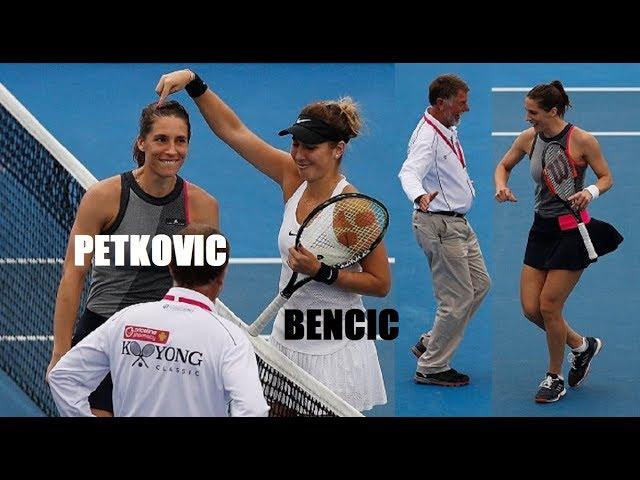 El ritmo de la tenista Petkovic con su 'petkodance' arrasa en las redes sociales