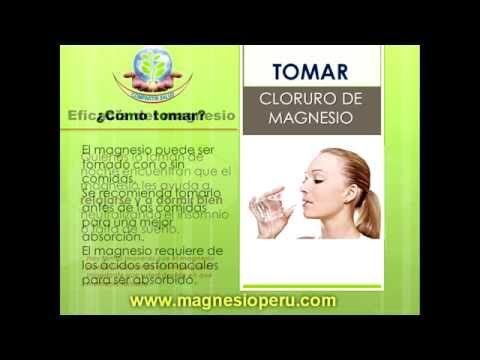 Puede se tomar de magnesio cloruro a el hora que