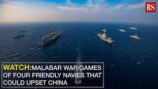 Watch: Malabar war games of four friendly navies that could upset China