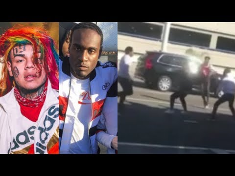 Savages CAUGHT 6IX9INE & HIS G00NS Trying To Leave & EVERYBODY CAUGHT FADES! He RESP0NDS