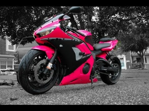 How to Paint a Motorcycle in your Garage (hot pink edition)